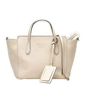 حقيبة ميني غوتشي جلد أبيض