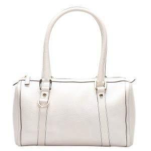 حقيبة بوسطن غوتشي جلد أبيض