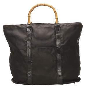 حقيبة غوتشي نايلون أسود بامبو