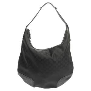 Gucci Black GG Nylon and Leather Princy Hobo