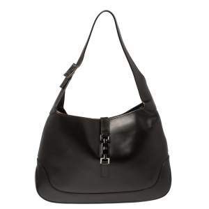 Gucci Dark Brown Leather Jackie Hobo