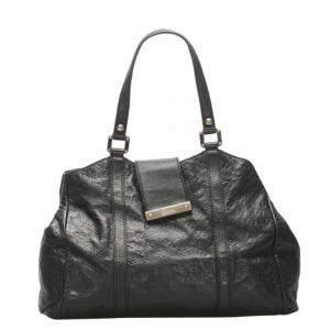 Gucci Black Leather Guccisima Bag
