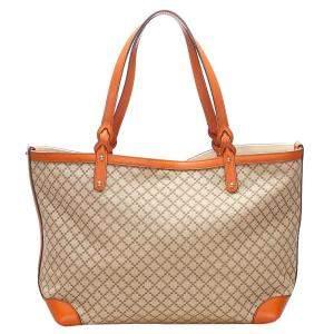Gucci Brown Diamante Craft Canvas Tote Bag