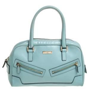 Gucci Light Blue Micro Guccissima Leather Capri Bowler Bag