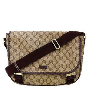 Gucci Brown GG Canvas Messenger Bag