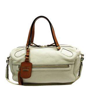 Gucci Ivory Leather Vintage Shoulder Bag