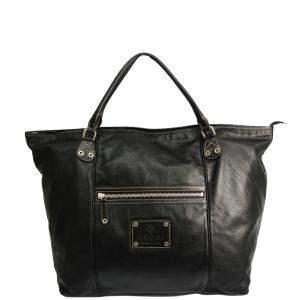 حقيبة يد غوتشى جيب أمامى جلد سوداء
