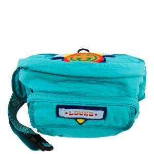 Gucci Turquoise Nylon 80s Patch Belt Bag