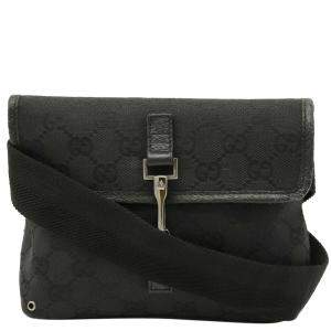 Gucci Black GG canvas Waist Bag