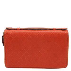 Gucci Orange Diamante Leather Travel Case