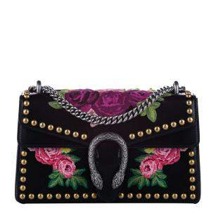 Gucci Black/Multicolor Studded Dionysus Small Bag