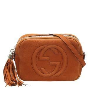 Gucci Orange Leather Soho Shoulder Bag