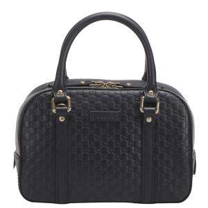 Gucci Black Microguccissima Leather Dome Bag