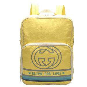 Gucci Yellow Nylon Blind For Love Backpack