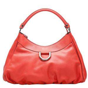 Gucci Red Leather D Ring Large Hobo bag