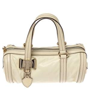 Gucci Light Cream Leather Small Duchessa Boston Bag