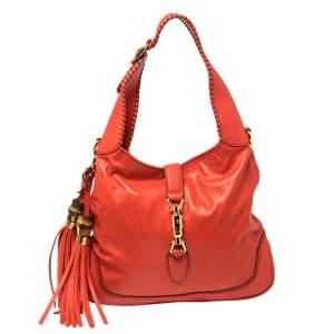 Gucci Orange Leather New Jackie Shoulder Bag
