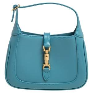 Gucci Turquoise Leather Mini 1961 Jackie Hobo