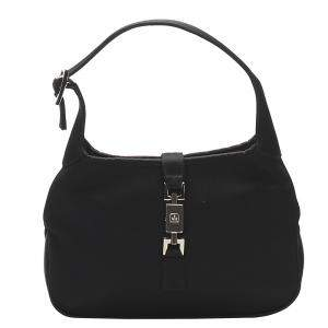 Gucci Black Satin Jackie Hobo Bag