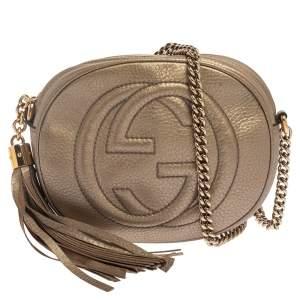 Gucci Metallic Leather Mini Soho Disco Chain Crossbody Bag