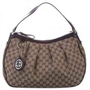 Gucci Brown/Beige GG Canvas Shoulder Bag