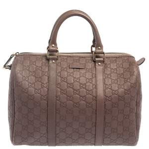 Gucci Brown Guccissima Leather Medium Joy Boston Bag