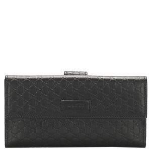 Gucci Black Microguccissima Long Wallet