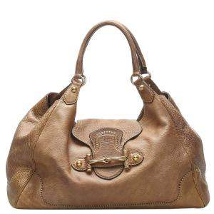 Gucci Brown Leather New Pelham Hobo Bag