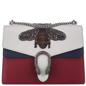 Gucci Multicolor Embellished Leather Dionysus Bee Bag