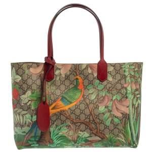 Gucci Multicolor GG Supreme Coated Canvas Tian Garden Tote