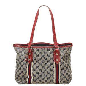 Gucci Brown GG Canvas Jolicoeur Tote Bag