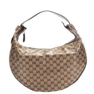 Gucci Brown GG Crystal Duchessa Shoulder Bag