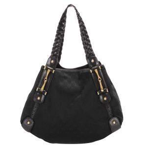 Gucci Black GG Canvas Pelham Shoulder Bag