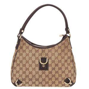 Gucci Brown/Beige Abbey GG Canvas Shoulder Bag