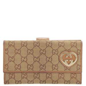 Gucci Brown GG Canvas Lovely Wallet