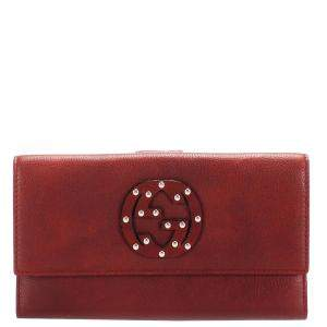 Gucci Red Leather GG Blondie Wallet