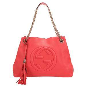 Gucci Pink Leather Soho Chain Shoulder Bag