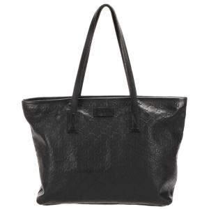 Gucci Black Guccissima Leather Tote Bag