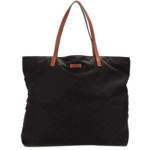 Gucci Black GG Nylon Tote Bag