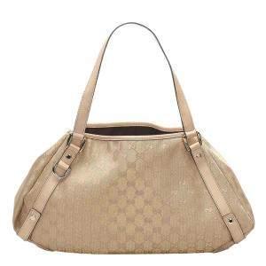 Gucci Brown/Beige GG Canvas Pelham Tote Bag