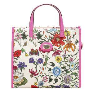 Gucci Multicolor Flora Canvas Tote Bag