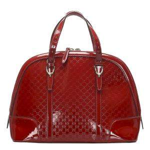 Gucci Red Microguccissima Leather Nice Satchel Bag