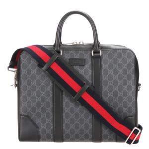 Gucci Black GG Supreme Canvas Business Bag