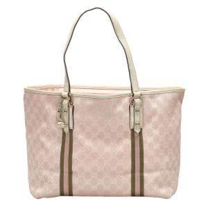 Gucci Pink/Light Pink GG Canvas Jolicoeur Tote Bag