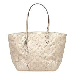 Gucci Beige/Brown Guccissima Bree Leather Tote Bag