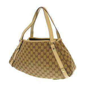 Gucci Brown/Beige GG Canvas Pelham Tote Bag