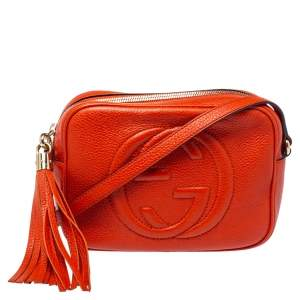 Gucci Orange Leather Soho Disco Shoulder Bag