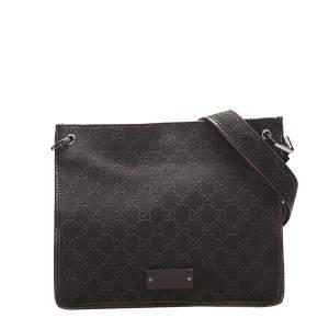 Gucci Brown/Dark Brown GG Canvas Shoulder Bag