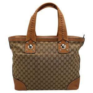 Gucci Beige/Brown GG Canvas Tote Bag
