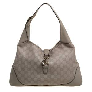 Gucci Beige Guccissima Leather Jackie O Hobo